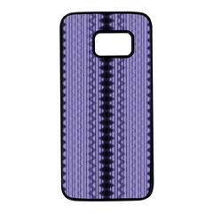 Zig Zag Repeat Pattern Samsung Galaxy S7 Black Seamless Case