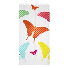 Beautiful Colorful Polka Dot Butterflies Clipart Shower Curtain 36  X 72  (stall)  by BangZart