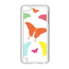 Beautiful Colorful Polka Dot Butterflies Clipart Apple Ipod Touch 5 Case (white) by BangZart