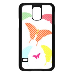 Beautiful Colorful Polka Dot Butterflies Clipart Samsung Galaxy S5 Case (black) by BangZart