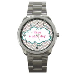 Have A Nice Day Sport Metal Watch by BangZart