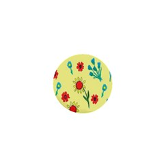 Flowers Fabric Design 1  Mini Buttons by BangZart