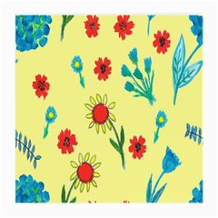 Flowers Fabric Design Medium Glasses Cloth by BangZart