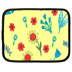 Flowers Fabric Design Netbook Case (large) by BangZart