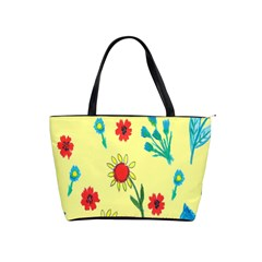 Flowers Fabric Design Shoulder Handbags by BangZart