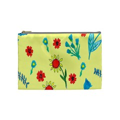 Flowers Fabric Design Cosmetic Bag (medium)  by BangZart