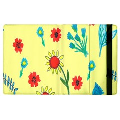 Flowers Fabric Design Apple Ipad 3/4 Flip Case by BangZart