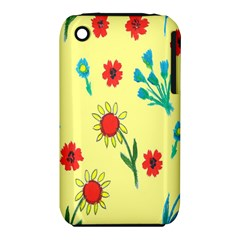 Flowers Fabric Design Iphone 3s/3gs by BangZart