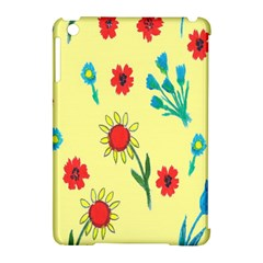 Flowers Fabric Design Apple Ipad Mini Hardshell Case (compatible With Smart Cover) by BangZart