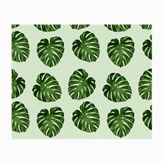 Leaf Pattern Seamless Background Small Glasses Cloth