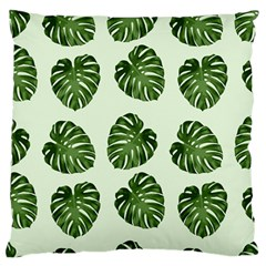 Leaf Pattern Seamless Background Standard Flano Cushion Case (one Side)