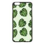 Leaf Pattern Seamless Background Apple iPhone 6 Plus/6S Plus Black Enamel Case Front