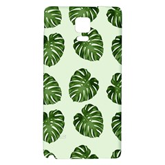 Leaf Pattern Seamless Background Galaxy Note 4 Back Case by BangZart