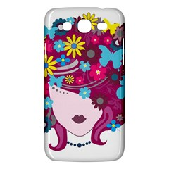 Beautiful Gothic Woman With Flowers And Butterflies Hair Clipart Samsung Galaxy Mega 5 8 I9152 Hardshell Case  by BangZart