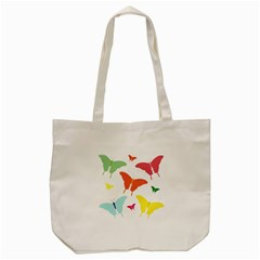 Beautiful Colorful Polka Dot Butterflies Clipart Tote Bag (cream) by BangZart