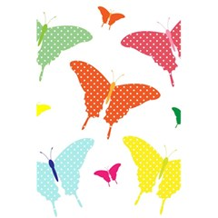 Beautiful Colorful Polka Dot Butterflies Clipart 5 5  X 8 5  Notebooks by BangZart
