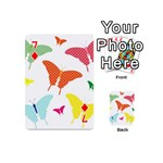 Beautiful Colorful Polka Dot Butterflies Clipart Playing Cards 54 (Mini)  Front - Diamond7
