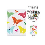 Beautiful Colorful Polka Dot Butterflies Clipart Playing Cards 54 (Mini)  Back