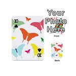 Beautiful Colorful Polka Dot Butterflies Clipart Playing Cards 54 (Mini)  Front - Spade10