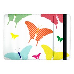 Beautiful Colorful Polka Dot Butterflies Clipart Samsung Galaxy Tab Pro 10 1  Flip Case by BangZart