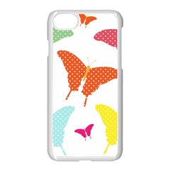 Beautiful Colorful Polka Dot Butterflies Clipart Apple Iphone 7 Seamless Case (white) by BangZart