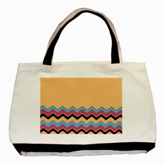 Chevrons Patterns Colorful Stripes Basic Tote Bag (two Sides) by BangZart