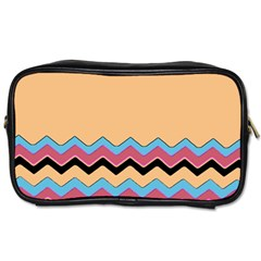 Chevrons Patterns Colorful Stripes Toiletries Bags 2 Side by BangZart