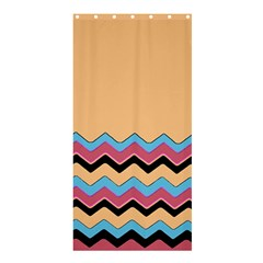 Chevrons Patterns Colorful Stripes Shower Curtain 36  X 72  (stall)