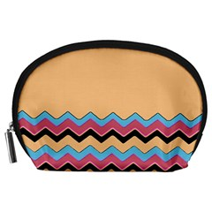 Chevrons Patterns Colorful Stripes Accessory Pouches (large)  by BangZart