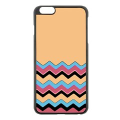 Chevrons Patterns Colorful Stripes Apple Iphone 6 Plus/6s Plus Black Enamel Case by BangZart
