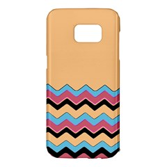Chevrons Patterns Colorful Stripes Samsung Galaxy S7 Edge Hardshell Case