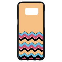 Chevrons Patterns Colorful Stripes Samsung Galaxy S8 Black Seamless Case