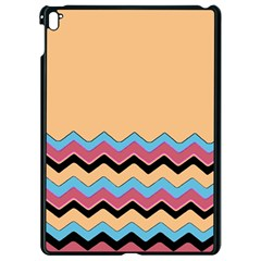 Chevrons Patterns Colorful Stripes Apple Ipad Pro 9 7   Black Seamless Case