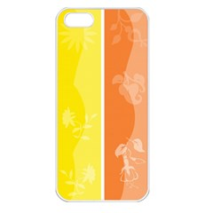 Floral Colorful Seasonal Banners Apple Iphone 5 Seamless Case (white)