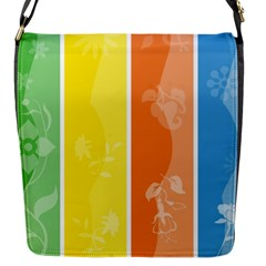 Floral Colorful Seasonal Banners Flap Messenger Bag (s) by BangZart