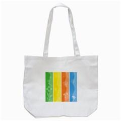 Floral Colorful Seasonal Banners Tote Bag (white) by BangZart