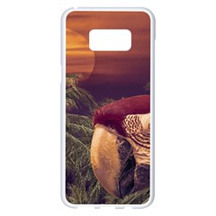 Tropical Style Collage Design Poster Samsung Galaxy S8 Plus White Seamless Case by dflcprints
