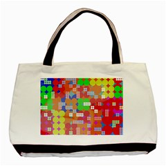 Abstract Polka Dot Pattern Basic Tote Bag by BangZart