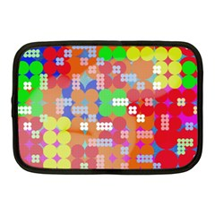 Abstract Polka Dot Pattern Netbook Case (medium)  by BangZart