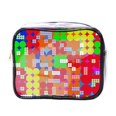 Abstract Polka Dot Pattern Mini Toiletries Bags by BangZart