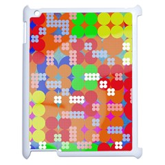 Abstract Polka Dot Pattern Apple Ipad 2 Case (white) by BangZart