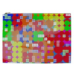 Abstract Polka Dot Pattern Cosmetic Bag (xxl)  by BangZart