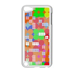 Abstract Polka Dot Pattern Apple Ipod Touch 5 Case (white) by BangZart