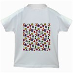 Cute Doodle Wallpaper Pattern Kids White T-Shirts Back