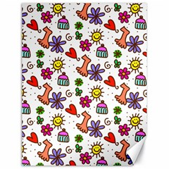 Cute Doodle Wallpaper Pattern Canvas 18  X 24   by BangZart