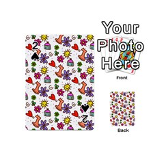 Cute Doodle Wallpaper Pattern Playing Cards 54 (mini)  by BangZart