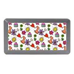 Cute Doodle Wallpaper Pattern Memory Card Reader (mini) by BangZart