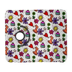 Cute Doodle Wallpaper Pattern Galaxy S3 (flip/folio) by BangZart