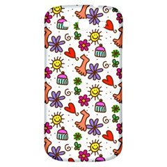 Cute Doodle Wallpaper Pattern Samsung Galaxy S3 S Iii Classic Hardshell Back Case by BangZart