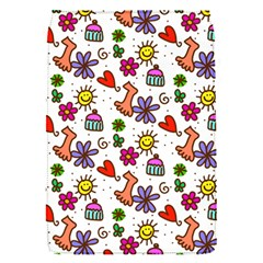 Cute Doodle Wallpaper Pattern Flap Covers (s)  by BangZart